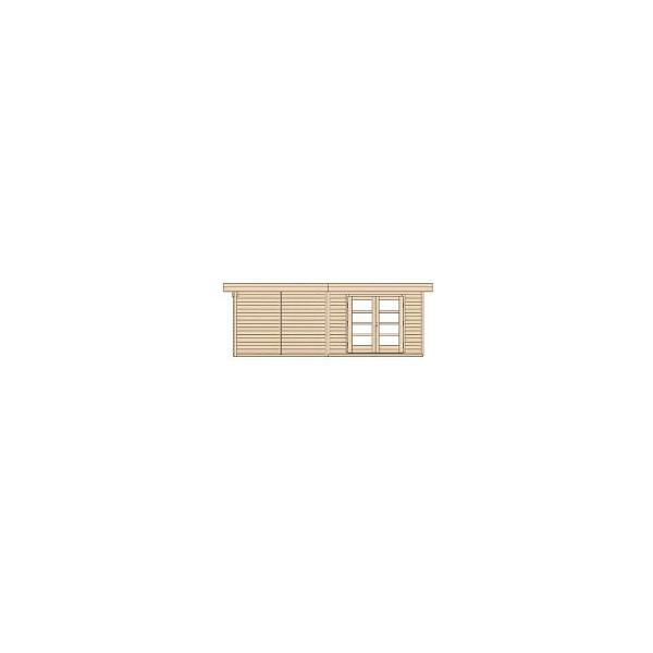 Abri de jardin en bois chill out 3 paisseur 28 mm avec for Porte de jardin en bois exterieur