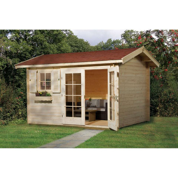 Abri de jardin en bois ingolstadt 1 2 28 mm ou 45 mm for Porte abri exterieur