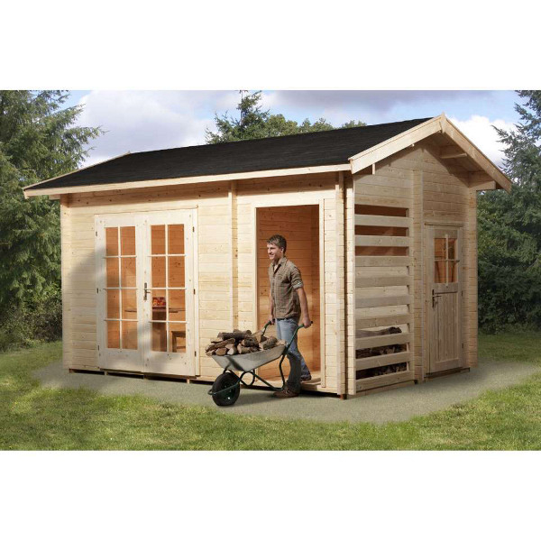 Abri de jardin en bois ingolstadt multifonction 28 mm for Abri exterieur jardin