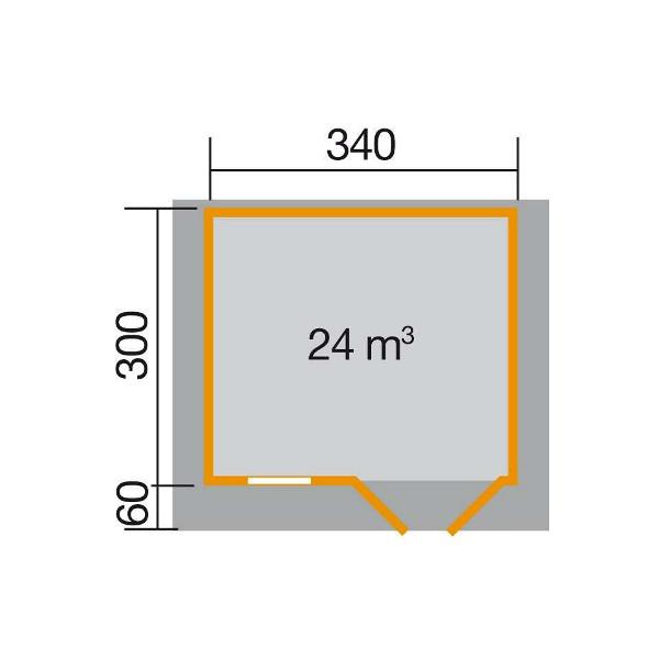 abri de jardin en bois konstanz 1 28 mm avec avanc e de toit 60 ou 200 cm porte simple. Black Bedroom Furniture Sets. Home Design Ideas