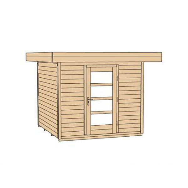 Abri de jardin en bois lounge 1 paisseur 28 mm avec for Porte en bois de jardin