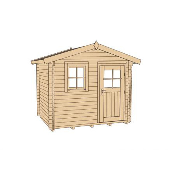 abri de jardin en bois nagold 1 28 mm avec avanc e. Black Bedroom Furniture Sets. Home Design Ideas