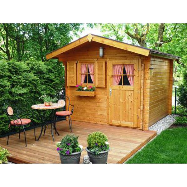 Abri de jardin en bois nagold 2 28 mm avec avanc e for Porte fenetre 60 cm