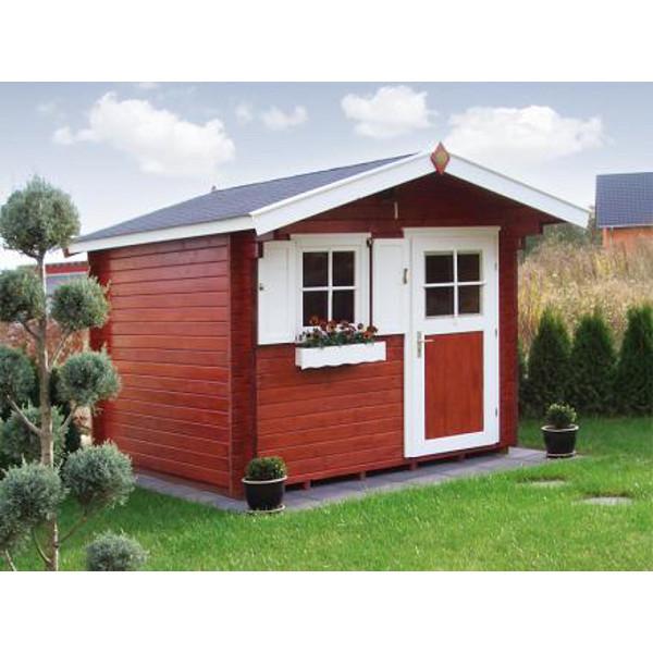 Abri de jardin en bois nagold 3 45 mm avec avanc e for Porte abri exterieur
