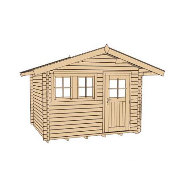 Abri de jardin en bois abri de jardin en bois neckerau 2 for Porte abri exterieur