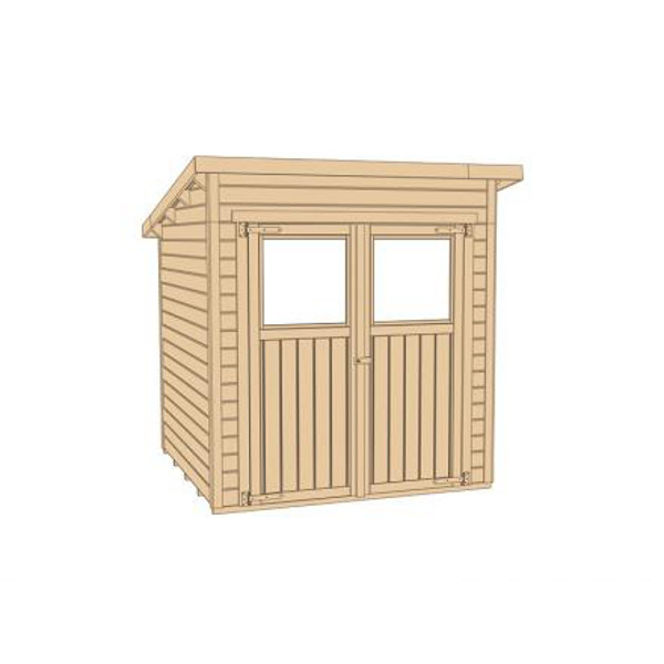 Abri de jardin en bois nova paisseur 19 mm tat brut for Porte de jardin en bois exterieur