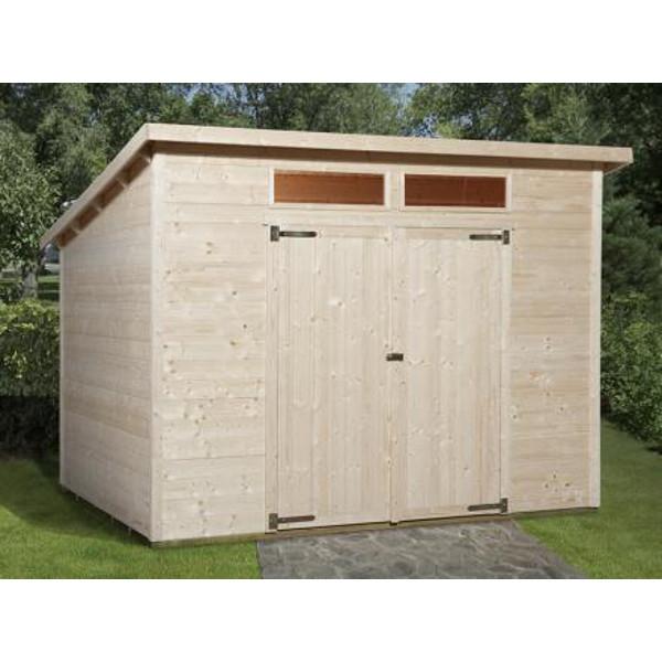 abri de jardin en bois nova plus paisseur 19 mm tat brut ou lasur avec imposte abri de. Black Bedroom Furniture Sets. Home Design Ideas