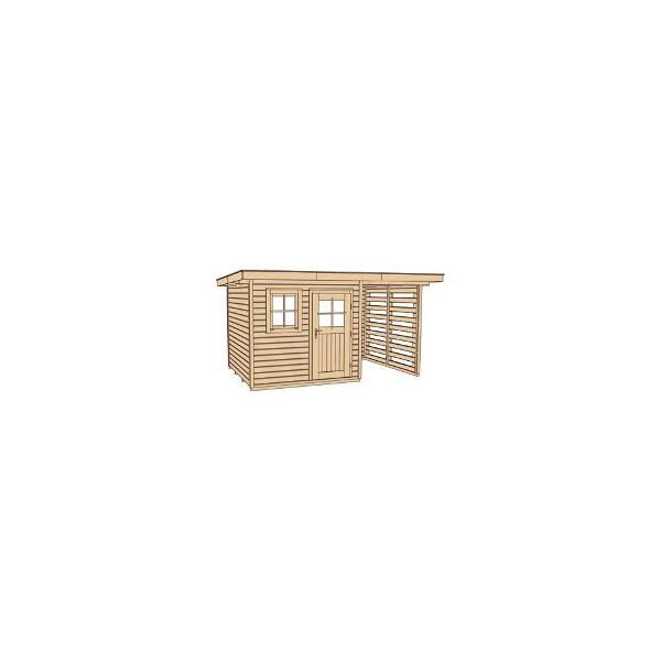 Abri de jardin en bois schongau 2 paisseur 28 mm avec for Porte de jardin en bois exterieur