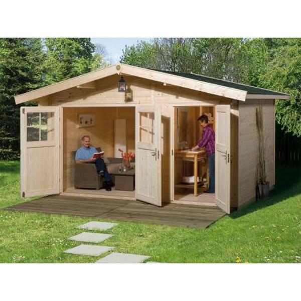 abri de jardin hinterzarten 28 mm 2 portes avec pi ce. Black Bedroom Furniture Sets. Home Design Ideas