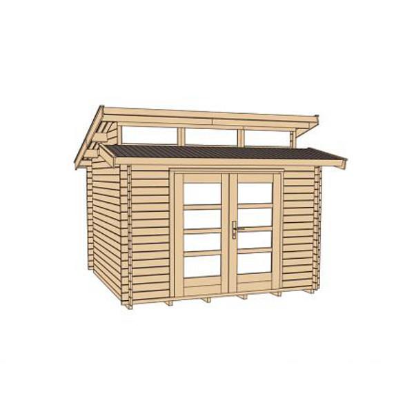 Abri jardin bois avantgarde 28 mm abri de jardin en for Porte bois exterieur abri
