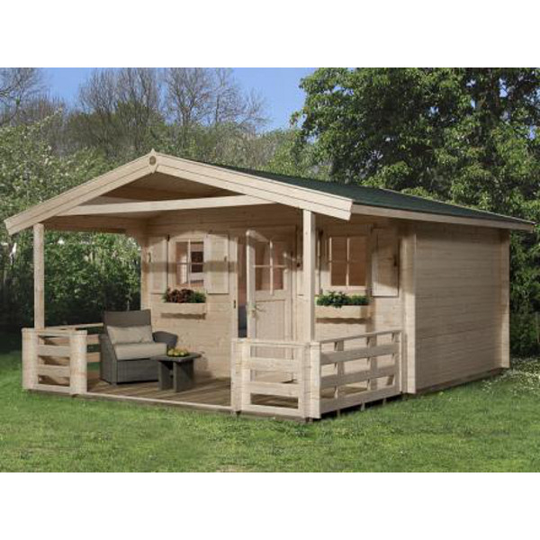 abri jardin bois konstanz 2 45 mm avanc e de toit 60 ou 200cm abri de jardin en bois achatmat. Black Bedroom Furniture Sets. Home Design Ideas