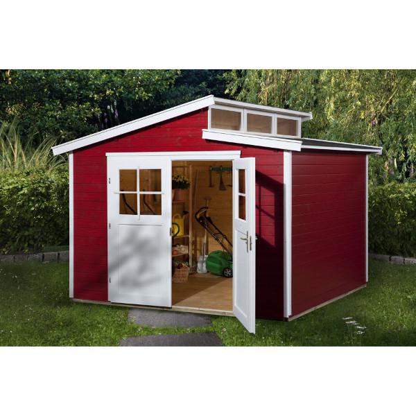Abri jardin bois massif luna color 21 mm abri de jardin en bois achatmat for Abri de jardin quelle epaisseur