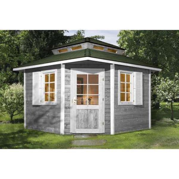 Abri jardin bois mediterrana 5 madriers 28 mm abri de jardin en bois achatmat for Abri de jardin en bois sans entretien