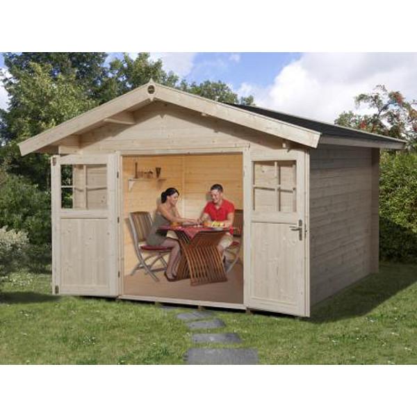 abri jardin bois neustadt 2 28 ou 45 mm avanc e de toit 60 cm abri de jardin en bois achatmat. Black Bedroom Furniture Sets. Home Design Ideas