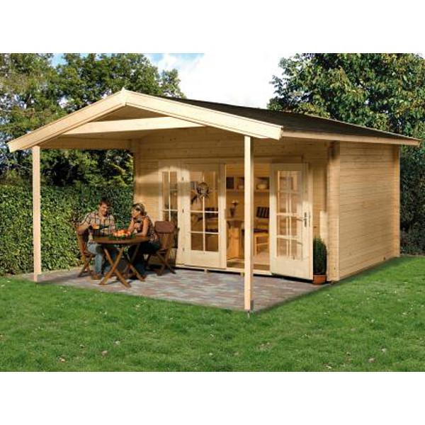 Abri jardin bois tegernsee 2 et 3 45 mm avanc e de toit 200 cm abri de jardin en bois achatmat for Abri de jardin en bois sans entretien