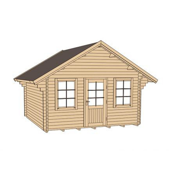 Pavillon de jardin en bois de luxe weekend allg u en madriers 45 mm toit pr par pour - Couverture toit abri de jardin ...