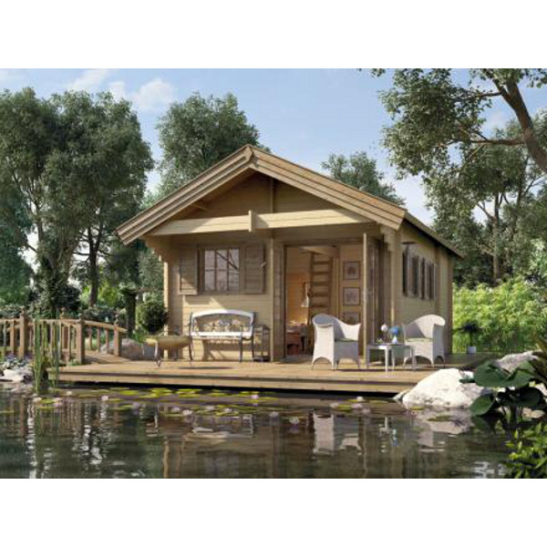 pavillon en bois de luxe m ritz avec mezzanine paisseur 45 mm abri de jardin en bois achatmat. Black Bedroom Furniture Sets. Home Design Ideas