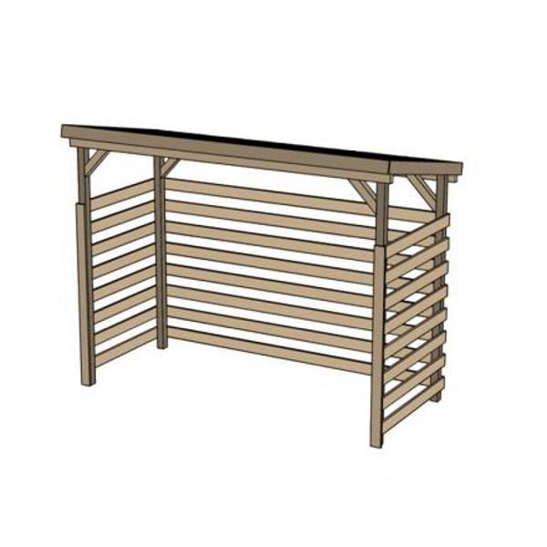 R serve bois 19 mm toit en bois massif autoclave abris de stockage et per - Stockage bois exterieur ...