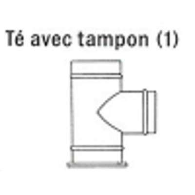 t querre pour tubage flexible inox avec tampon pour fuel ou gaz inox accessoires de. Black Bedroom Furniture Sets. Home Design Ideas