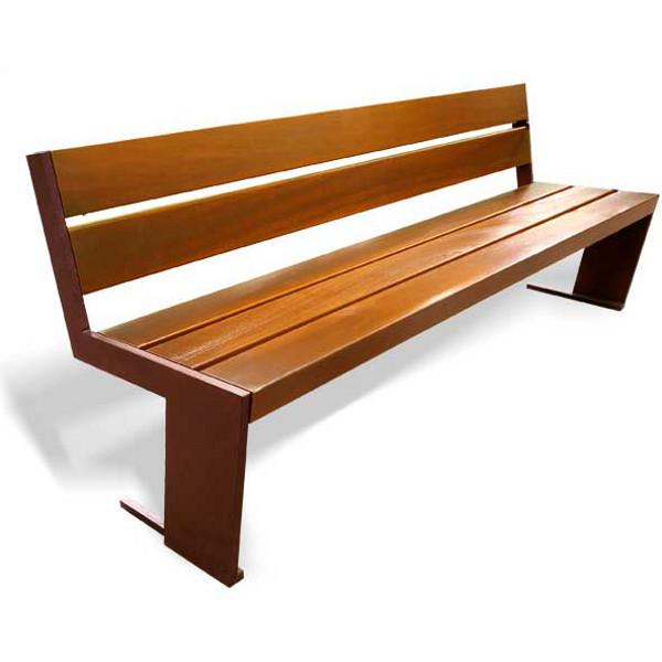 banc 5 lattes en bois exotique 2400 mm bancs chaises et tables publics achatmat. Black Bedroom Furniture Sets. Home Design Ideas