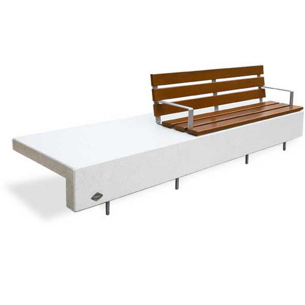 banc ela plus 3000 assise banc b ton blanc bancs chaises et tables publics achatmat. Black Bedroom Furniture Sets. Home Design Ideas
