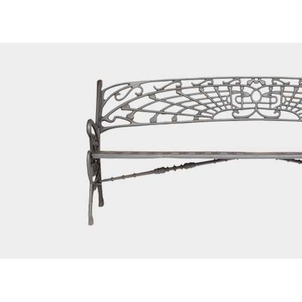 banc fonte ductile teinte oxyron noir bancs chaises et tables publics achatmat. Black Bedroom Furniture Sets. Home Design Ideas