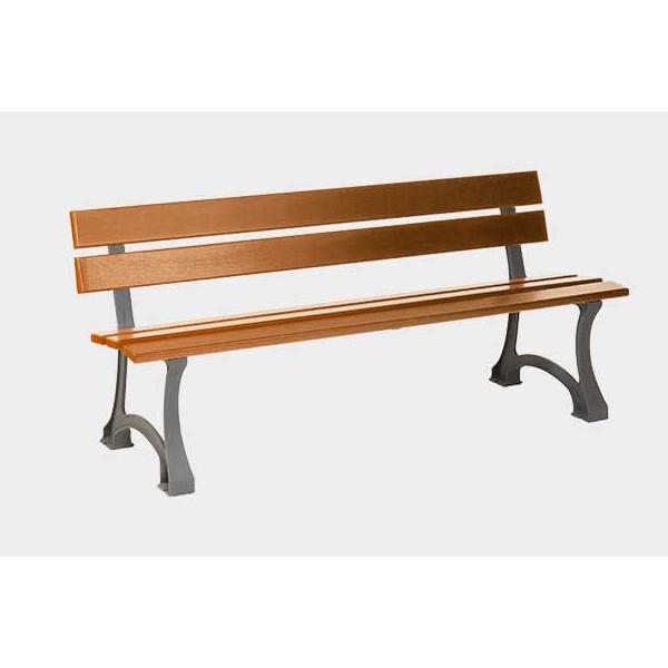 banc 5 lattes en bois exotique bancs chaises et tables achatmat. Black Bedroom Furniture Sets. Home Design Ideas