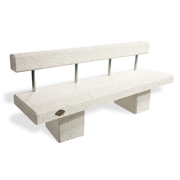 banc toledo 2000 b ton blanc avec dossier bancs chaises et tables achatmat. Black Bedroom Furniture Sets. Home Design Ideas