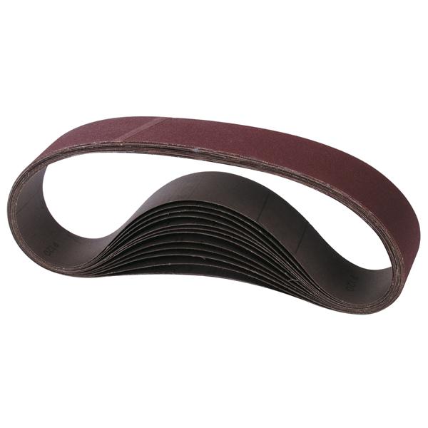 Lot 10 bandes abrasives pour ponceuse portative - Bande pour ponceuse ...