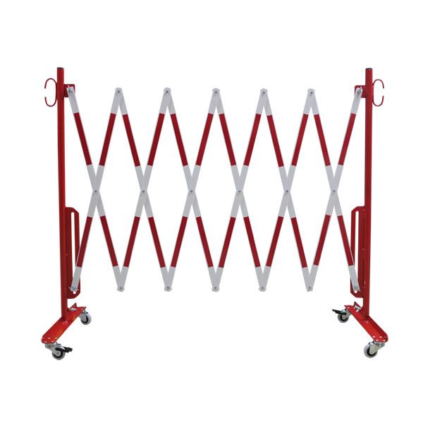 barri re extensible rouge et blanche sur roulettes barri res de s curit extensibles achatmat