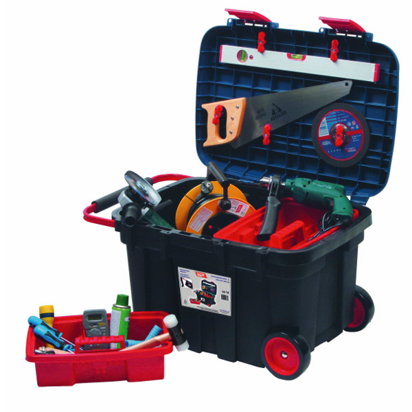 coffre de chantier roulant 130 l boites 224 outils achatmat