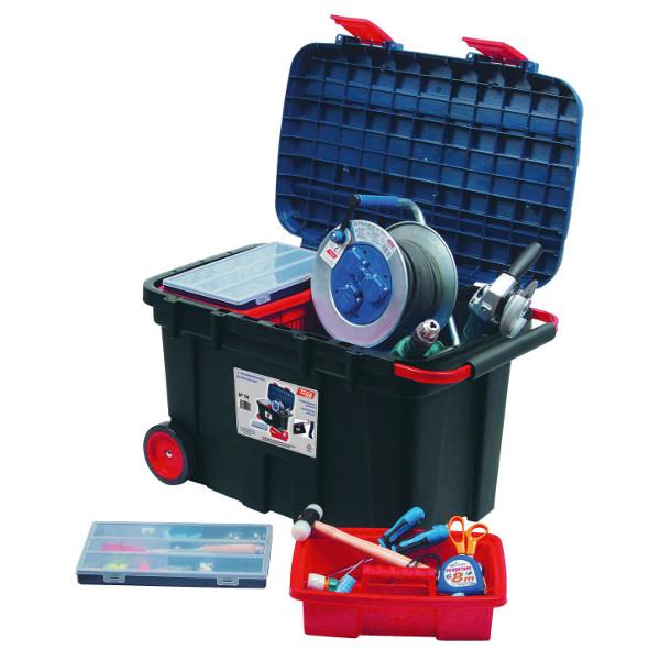 coffre de chantier roulant 180 l boites 224 outils achatmat