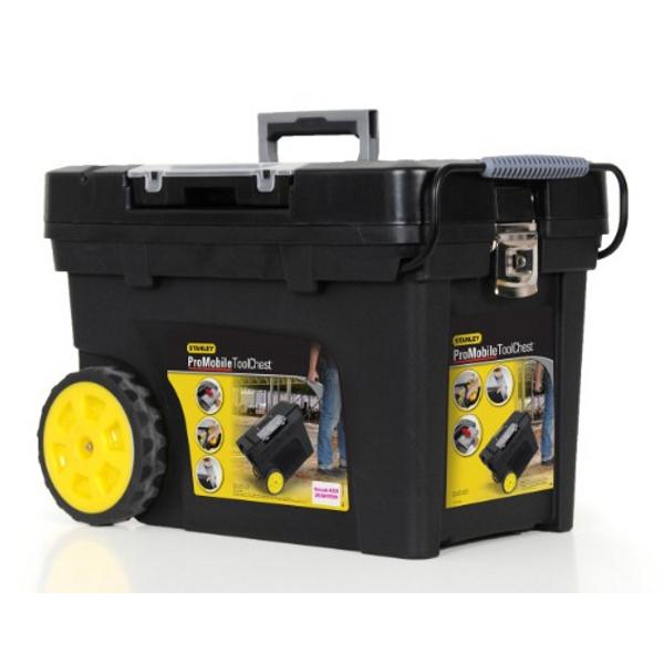 coffre de chantier roulant 53 l stanley boites 224 outils achatmat