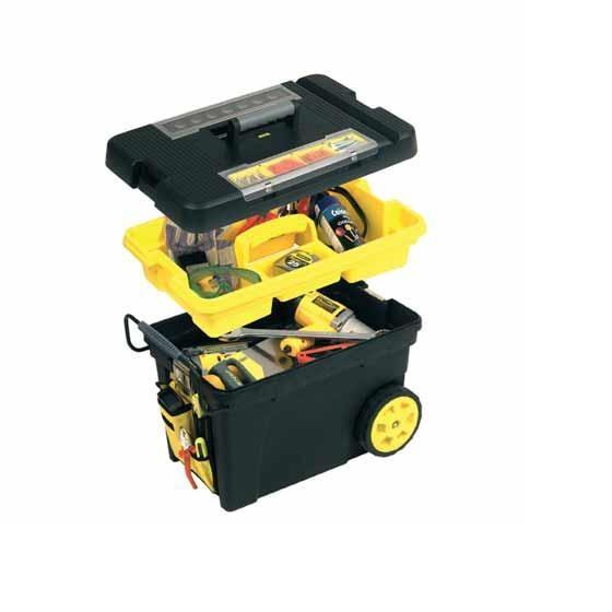 coffre de chantier roulant tout terrain 190 l stanley boites 224 outils achatmat