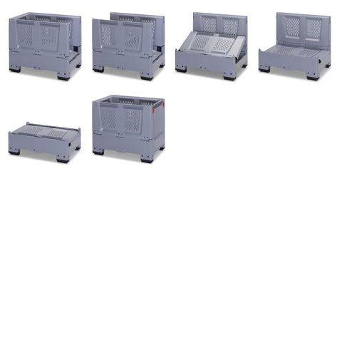 caisse palette plastique pliable ajour e caisse palette plastique palettes bacs euro achatmat. Black Bedroom Furniture Sets. Home Design Ideas