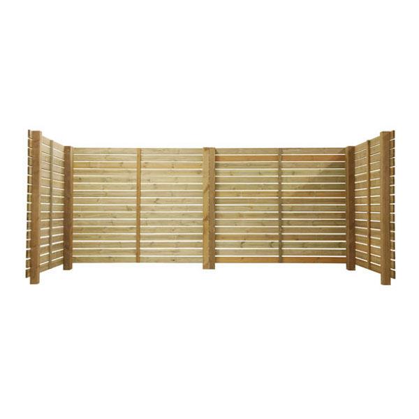 Abris cache conteneur en bois de pin cendriers urbains for Porte abri exterieur