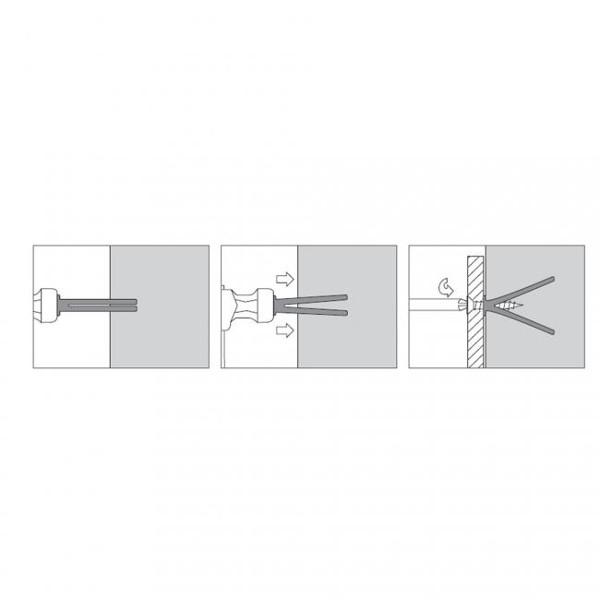 cheville frapper pour b ton cellulaire square scell it. Black Bedroom Furniture Sets. Home Design Ideas