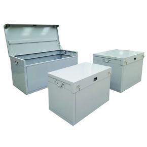 box de chantier en acier de 300 800 litres coffre et malle achatmat. Black Bedroom Furniture Sets. Home Design Ideas