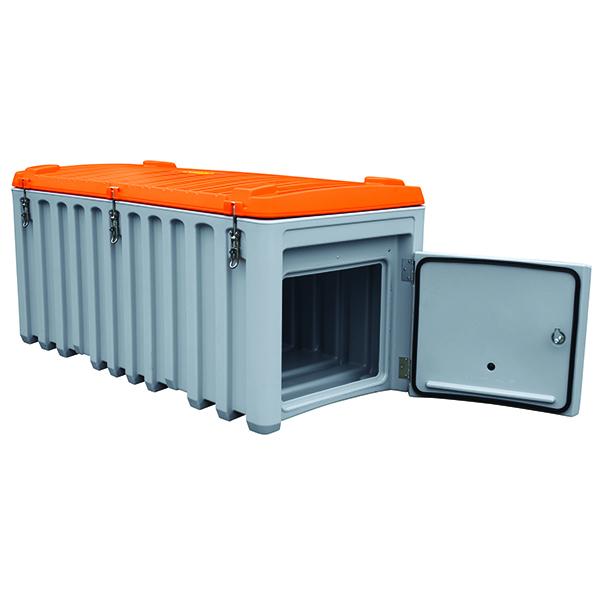 coffre avec couvercle 750 litres avec trappe lat rale coffre et malle achatmat. Black Bedroom Furniture Sets. Home Design Ideas