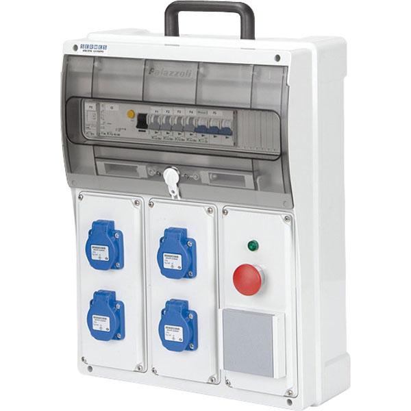 Coffret de chantier artisan 40 a quip s de disjoncteurs coffret de chantier achatmat - Coffret electrique de chantier ...
