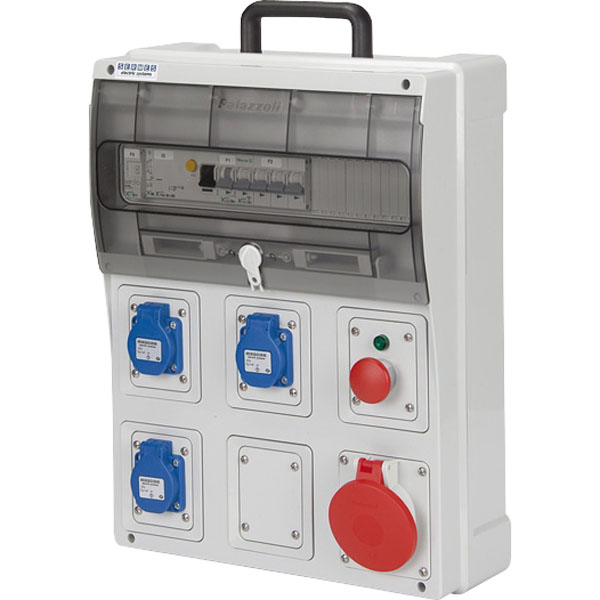 Coffret de chantier de distribution de prises de courant 40 a coffret de chantier achatmat - Coffret electrique de chantier ...