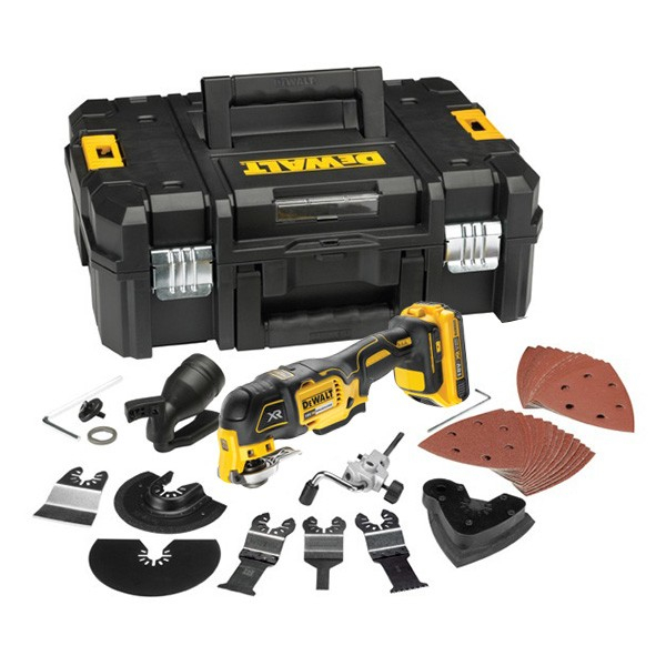 d coupeur ponceur multi cutter 18 v 2 ah dewalt dcs355d2. Black Bedroom Furniture Sets. Home Design Ideas