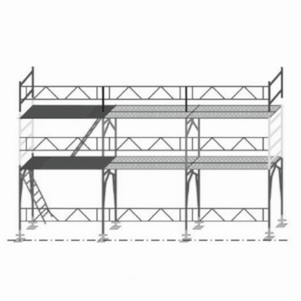 echafaudage rapid pro 42 lot 65 m2 echafaudage fa adier. Black Bedroom Furniture Sets. Home Design Ideas
