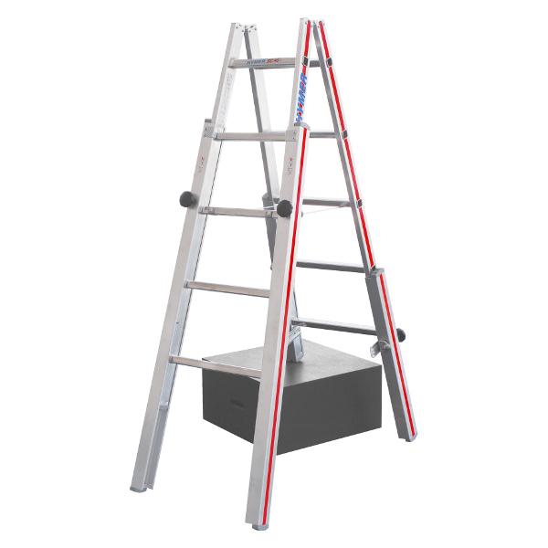 echelle alu double pour escaliers echelles professionnelles achatmat. Black Bedroom Furniture Sets. Home Design Ideas