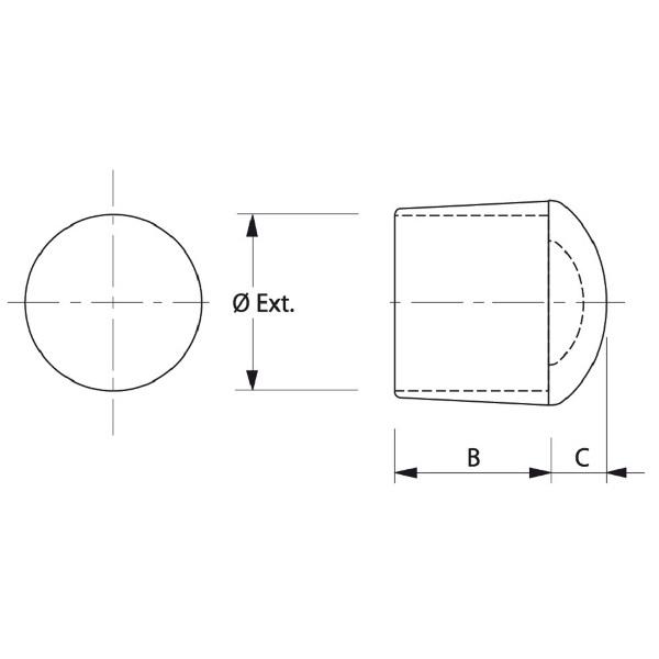 embout pour tube rond utilisable ext rieur flexible blanc embouts ext rieurs achatmat. Black Bedroom Furniture Sets. Home Design Ideas
