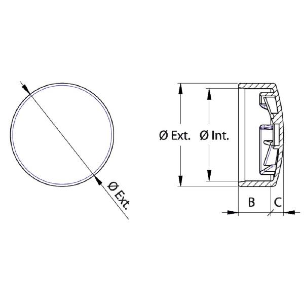 embouts plastiques et caches vis embout pour tube rond carre rectangulaire utilisable exterieur. Black Bedroom Furniture Sets. Home Design Ideas