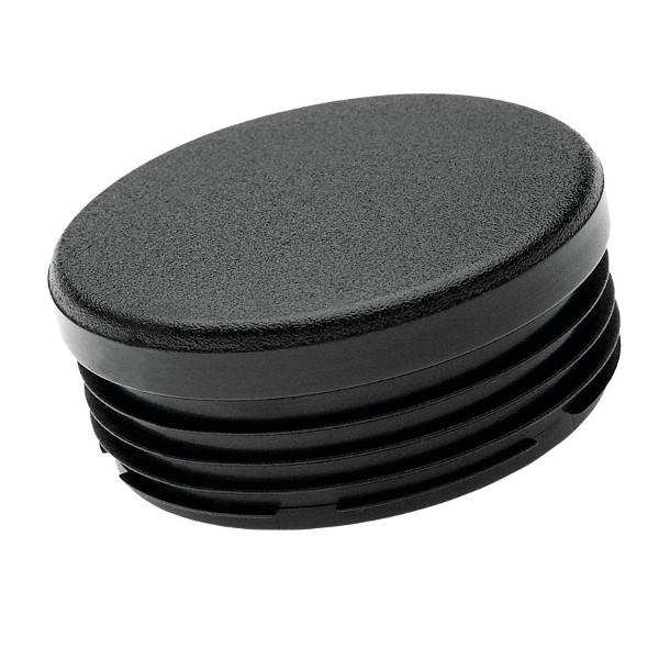 embout plastique noir pour tube rond int rieur cannel plat embouts ronds achatmat. Black Bedroom Furniture Sets. Home Design Ideas