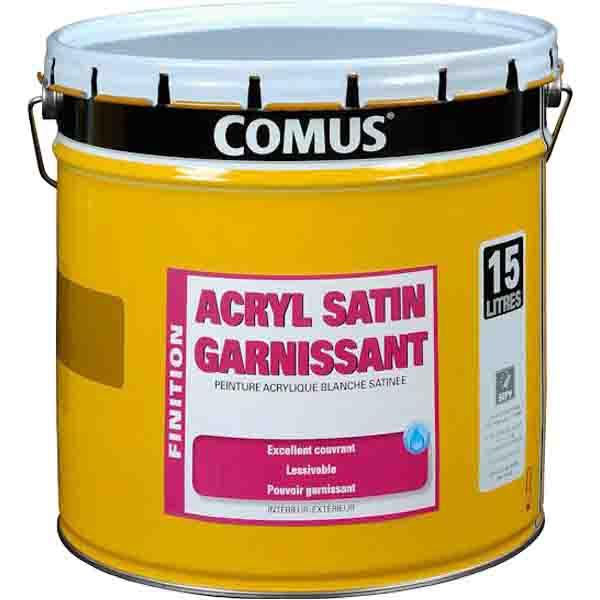 peinture de finition fort garnissant comus acryl satin enduits sous couches peintures. Black Bedroom Furniture Sets. Home Design Ideas