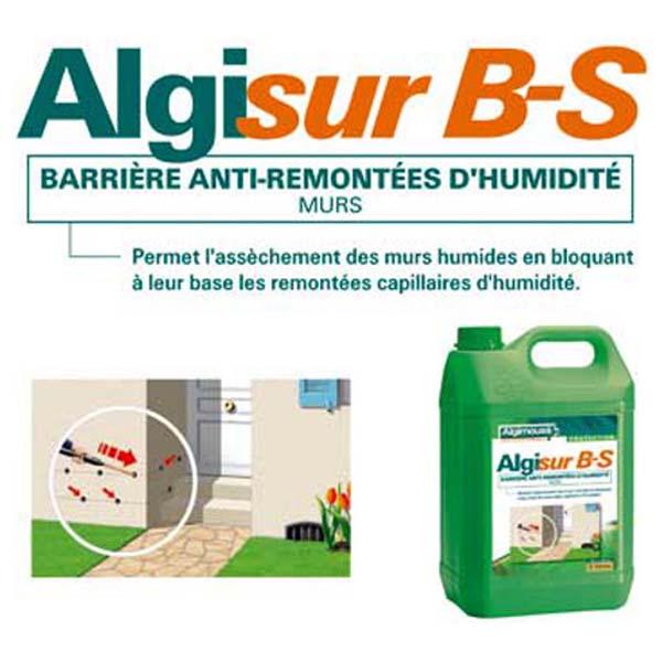 Algimouss algisur barri re anti remont es entretien et - Enduit anti humidite ...