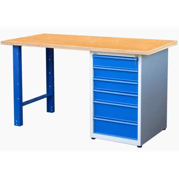 etabli professionnel 6 tiroirs etabli acier achatmat. Black Bedroom Furniture Sets. Home Design Ideas